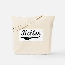 Kellen Vintage (Black) Tote Bag