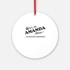 Cute Amanda Round Ornament