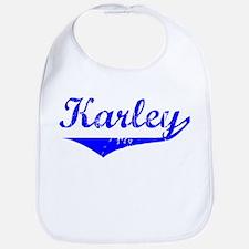 Karley Vintage (Blue) Bib