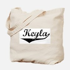 Keyla Vintage (Black) Tote Bag