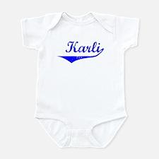 Karli Vintage (Blue) Infant Bodysuit