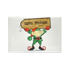 Holiday Elf Rectangle Magnet