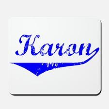 Karon Vintage (Blue) Mousepad
