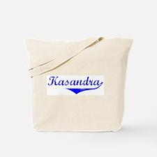 Kasandra Vintage (Blue) Tote Bag