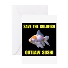 SAVE THE GOLDFISH Greeting Card