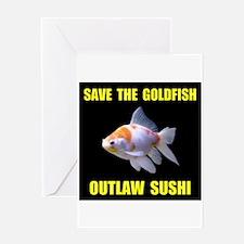SAVE THE GOLDFISH Greeting Card
