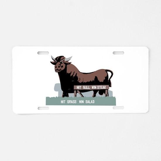 Durham NC Bull Aluminum License Plate