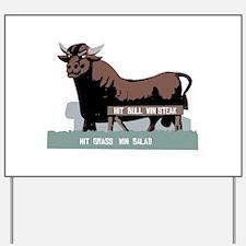 Durham NC Bull Yard Sign