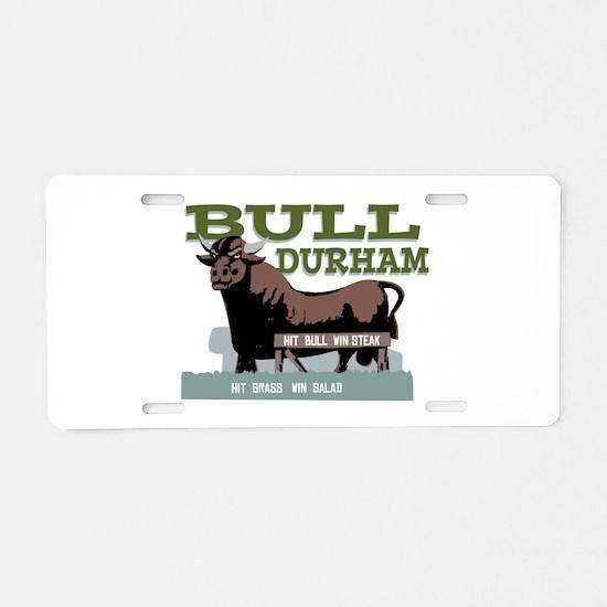 Bull Durham Aluminum License Plate