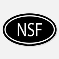NSF Oval Decal