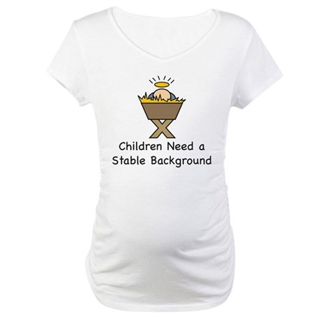 STABLE BACKGROUND Maternity T-Shirt