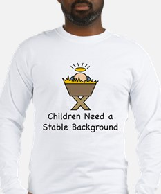 STABLE BACKGROUND Long Sleeve T-Shirt