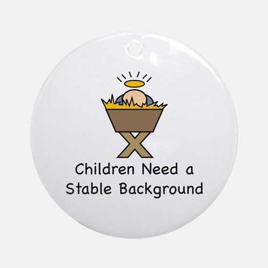 STABLE BACKGROUND Ornament (Round)