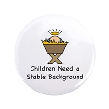 """STABLE BACKGROUND 3.5"""" Button (100 pack)"""