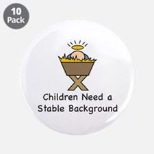 "STABLE BACKGROUND 3.5"" Button (10 pack)"