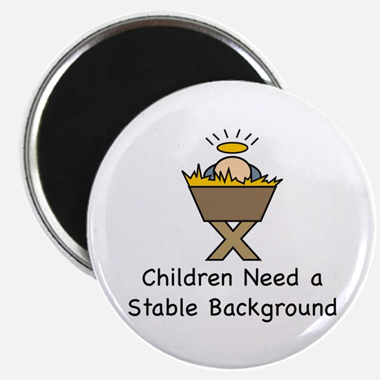 "STABLE BACKGROUND 2.25"" Magnet (100 pack)"