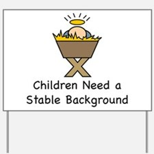 STABLE BACKGROUND Yard Sign