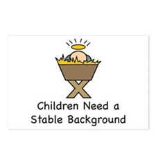 STABLE BACKGROUND Postcards (Package of 8)