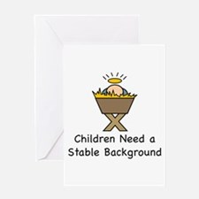 STABLE BACKGROUND Greeting Card