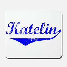 Katelin Vintage (Blue) Mousepad