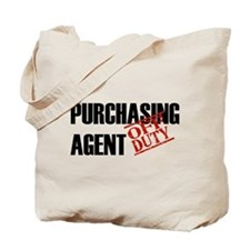 Off Duty Purchasing Agent Tote Bag
