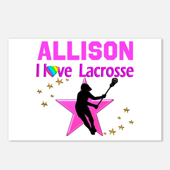 LACROSSE PLAYER Postcards (Package of 8)