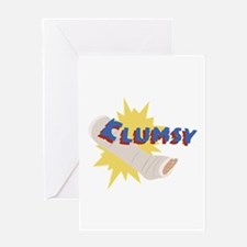 Clumsy Leg Cast Greeting Cards