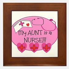 Funny Nurse kid Framed Tile