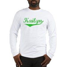 Kailyn Vintage (Green) Long Sleeve T-Shirt