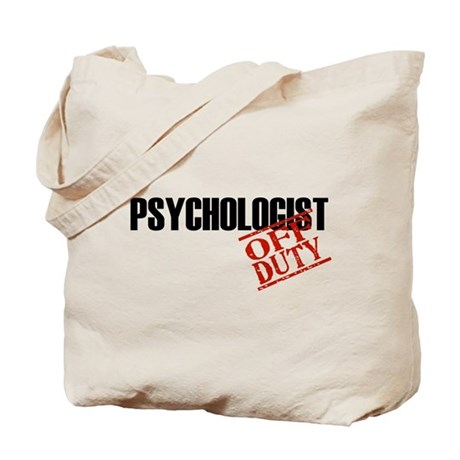 Off Duty Psychologist Tote Bag