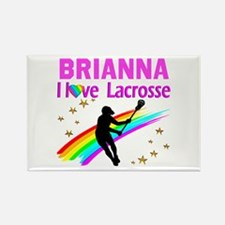 LACROSSE PLAYER Rectangle Magnet