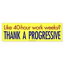 40-Hour Bumper Bumper Sticker