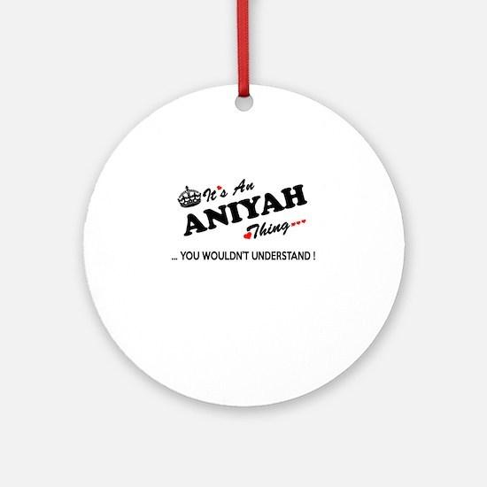 Cute Aniyah Round Ornament