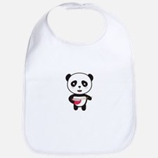 Cute Panda with rice bowl Bib