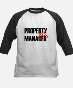 Off Duty Property Manager Kids Baseball Jersey