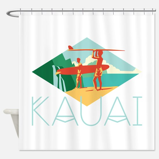 Kauai Surfers Shower Curtain