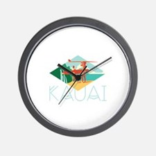 Kauai Surfers Wall Clock