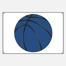 Blue and Black Basketball Banner