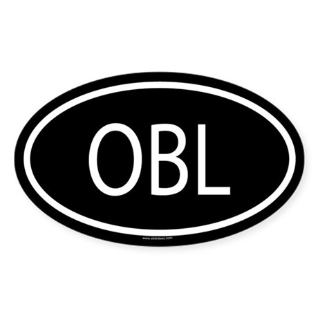 OBL Oval Sticker