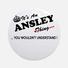 Cute Ansley Round Ornament