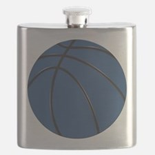 Blue and Black Basketball Flask