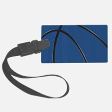 Blue and Black Basketball Luggage Tag