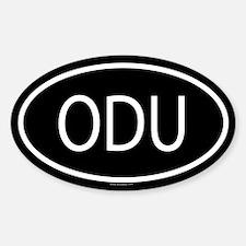ODU Oval Decal