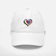 ITALIA U.S.A Heart Italian American Baseball Baseball Cap