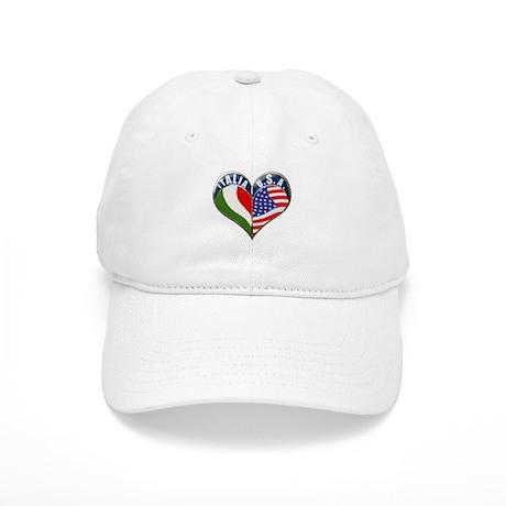 ITALIA U.S.A Heart Italian American Cap