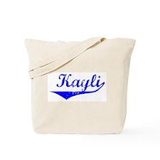 Kayli Vintage (Blue) Tote Bag