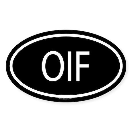 OIF Oval Sticker