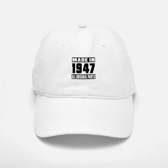 Made In 1947 Baseball Baseball Cap