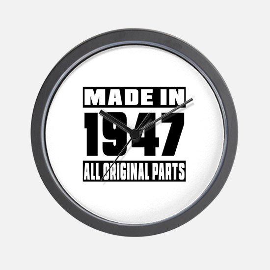 Made In 1947 Wall Clock