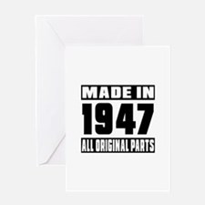 Made In 1947 Greeting Card